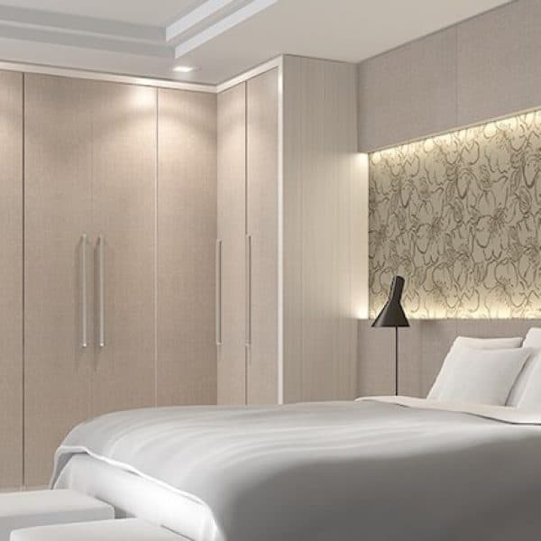 contemporary bedroom l shape corner wardrobe