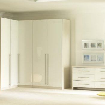 Gloss Wardrobes with Hinged Doors