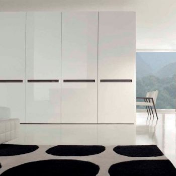 beautiful bespoke contemporary high ceiling fitted closet