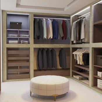 Bespoke walk-in wardrobe in London