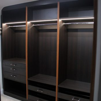 Custom closet with fitted shoe drawers in Central London