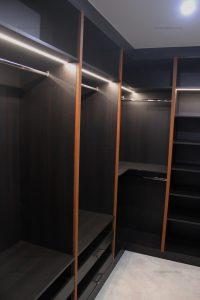 Fitted L shape walk in wardrobe in London