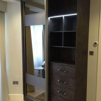 Modern sliding door wardrobe in Highgate
