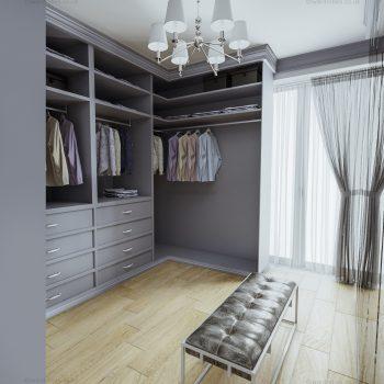 Bespoke elegant dressing room in London