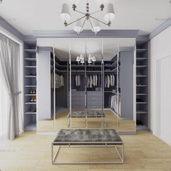 Custom made traditional dressing room in London