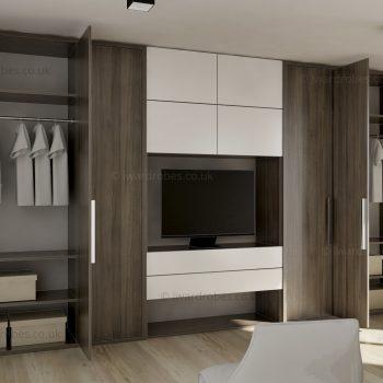 Modern fitted reception storage solution