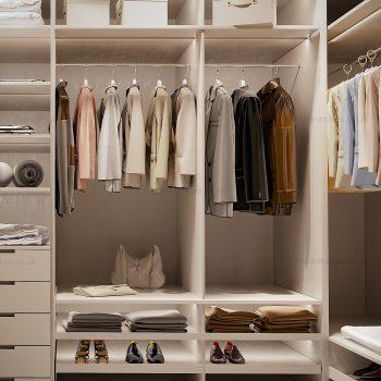 Modern light dressing closet