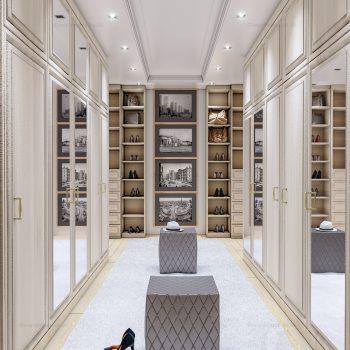 Bespoke designer walk-in wardrobe