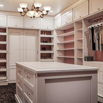Custom white painted designer closet in London