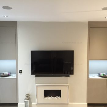 Fitted reception wardrobe