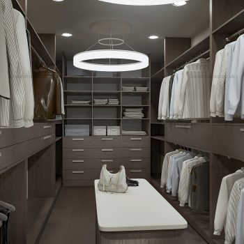 Fitted dark dressing room