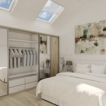 Custom made sliding loft closet