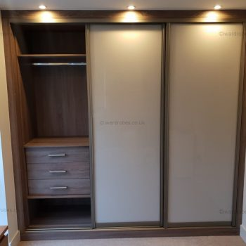 Built in light modern fitted wardrobe in London