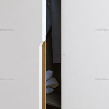 Designer white hinged door wardrobe